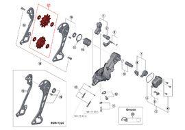 Shimano Pulleys for XT M8000 11 speed rear derailleur