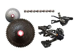 Shimano XTR M9000 1X11 speed groupset with Sunrace MX80 cassette 2017