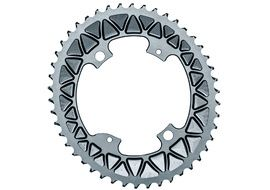 Absolute Black Premium Sub Compact Oval 110/4 Chainring - Grey 2018