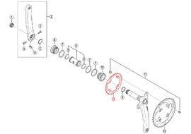 Shimano Chainring XTR M985 2X10 speed - 28 teeth