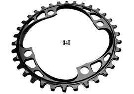 Absolute Black Narrow Wide 104 mm BCD Chainring Black 2018