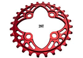 Absolute Black Narrow Wide 64 mm BCD Chainring Red 2018