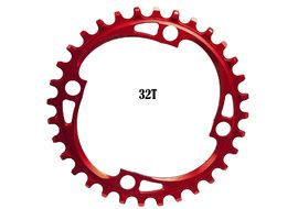 Absolute Black Narrow Wide 104 mm BCD Chainring Red 2018