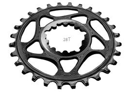 Absolute Black Narrow Wide Sram Spiderless GXP Chainring Black 2018