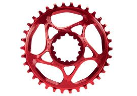 Absolute Black Narrow Wide Sram Spiderless GXP Chainring Red 2018