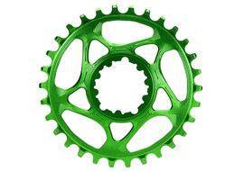 Absolute Black Narrow Wide Sram Spiderless GXP Chainring Green 2018