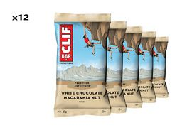 Clif Bar Box of 12 Energy Bar White Chocolate Macadamia