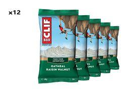 Clif Bar Box of 12 Energy Bar Oatmeal Raisin Walnut