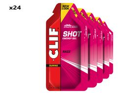 Clif Bar Box of 24 Shot Energy Gel Raspberry