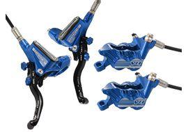 Hope Tech 3 V4 disc brake set Blue - Standard hose 2020