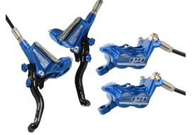 Hope Tech 3 E4 disc brake set Blue - Standard Hose 2019