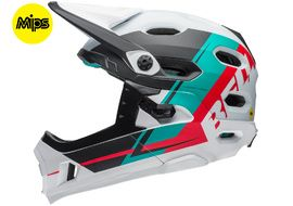 Bell Super DH MIPS helmet White / Green / Red 2018