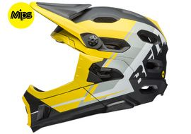 Bell Super DH MIPS helmet Yellow / Grey / Black 2018
