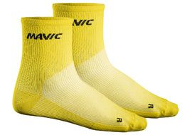 Mavic Cosmic Mid Socks Yellow 2018