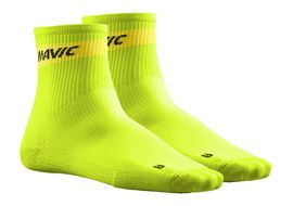 Mavic Cosmic Mid Socks Lime Green 2018