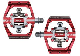 HT Components X2 Pedals Red