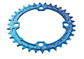 Race Face Narrow Wide 104 mm Single Chainring Blue 2018