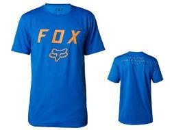 Fox Contended Tech Tee Shirt Sleeve Blue 2018