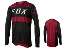 Fox Flexair Long Sleeve Jersey Black and Red 2018