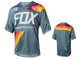Fox Demo Drafter Short Sleeve Jersey Blue 2018