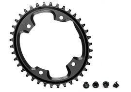 Absolute Black CX Oval Chainring for 110 mm 4 holes Black 2019