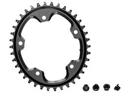 Absolute Black CX Oval Chainring for 110 mm 5 holes Black 2019