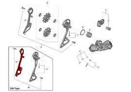 Shimano Inner cage for Ultegra Di2 R8050 rear derailleur
