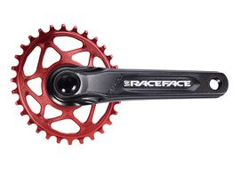 Race Face Aeffect Cinch DM Crankset + Absolute Black Oval Ring Red 2021