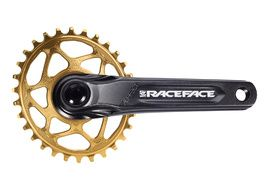 Race Face Aeffect Cinch DM Crankset + Absolute Black Oval Ring Gold 2021