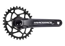 Race Face Aeffect Cinch DM Crankset + Absolute Black Oval Ring Black 2020