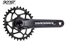 Race Face Aeffect Cinch DM Crankset + Absolute Black Boost Oval Ring Black 2020