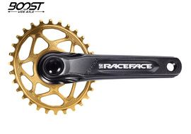 Race Face Aeffect Cinch DM Crankset + Absolute Black Boost Oval Ring Gold 2020