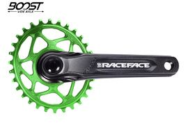 Race Face Aeffect Cinch DM Crankset + Absolute Black Boost Oval Ring Green 2021