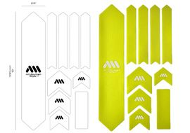 All Mountain Style Frame Guard Protection Kit XL Colors (10 parts) - Yellow 2017