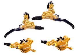 Formula Cura disc brake set Gold without rotor and adapter 2019