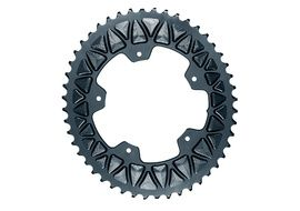 Absolute Black Premium Sub Compact Oval 110/5 Chainring - Grey - 48 T 2019