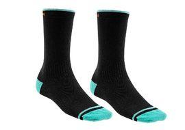 Mondraker Racing High Socks Orange and Green 2020