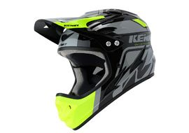 Kenny Down Hill Helmet Black and Neon Yellow 2020
