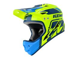 Kenny Down Hill Helmet Blue and Neon Yellow 2020