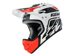 Kenny Down Hill Helmet White Black and Red 2020
