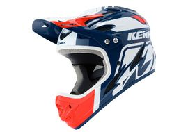 Kenny Down Hill Helmet White Navy and Red 2020