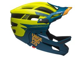 Urge Gringo de la Pampa Helmet Lime and Blue 2020