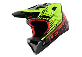 Kenny Decade Helmet DZR Fluo Yellow and Red 2020