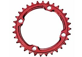 Race Face Narrow Wide 104 mm Single Chainring Red 2019