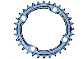 Race Face Narrow Wide 104 mm Single Chainring Blue 2019