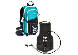 V8 Equipment FRD 11.1 Hydration Pack Black / Blue with Elite bladder 1.5/3L