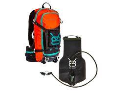 V8 Equipment FRD 11.1 Hydration Pack Black / Orange with Elite bladder 1.5/3L