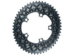 Absolute Black Premium Road Oval 110/5 Chainring for Sram - Grey 2020