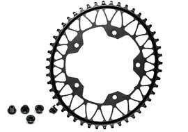 Absolute Black Gravel Oval Chainring for 110 mm 5 holes Black 2020