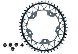 Absolute Black Gravel Oval Chainring for 110 mm 5 holes Grey 2020